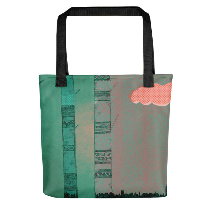 Far Away the City Sleeps Tote bag