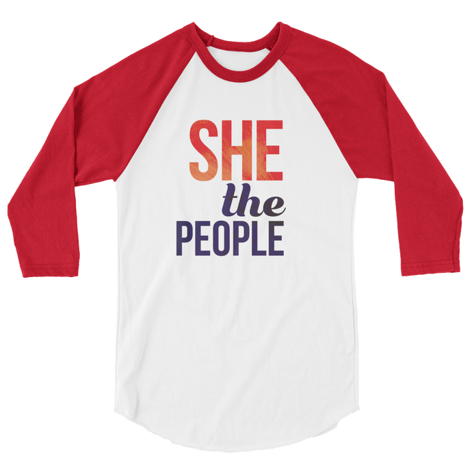 She the People | 3/4 sleeve raglan shirt