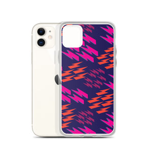 Bowie Pink Lightning Bolts - iPhone Case