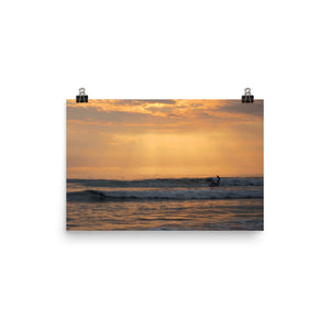 Santa Monica at Sunset | Photo paper poster