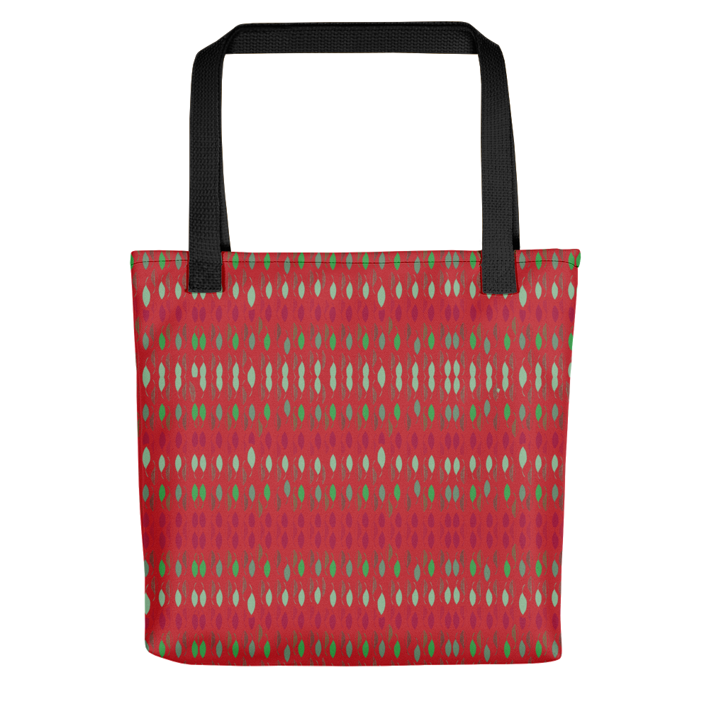 Holiday Poinsettia Leaves Tote bag