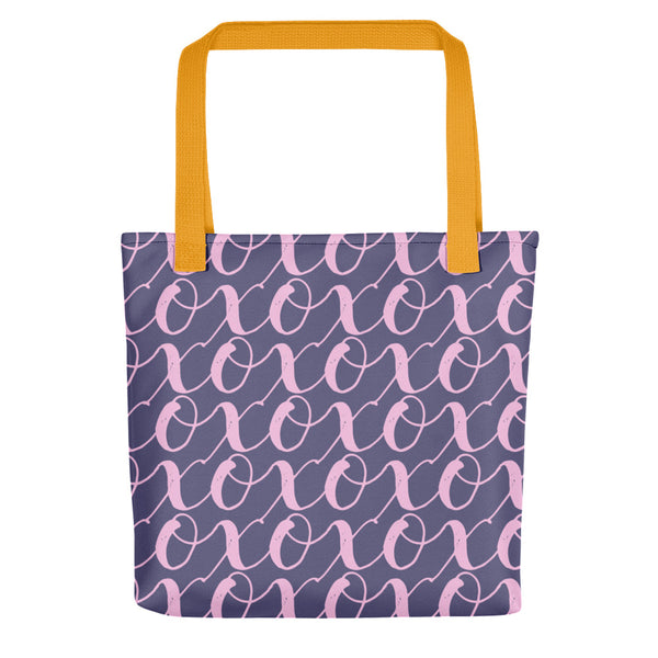 Totes for Mother's Day. Give the gift of X's and O's, and remind your mom how much you love her. Perfect for food shopping, going to the beach or the farmer's market.