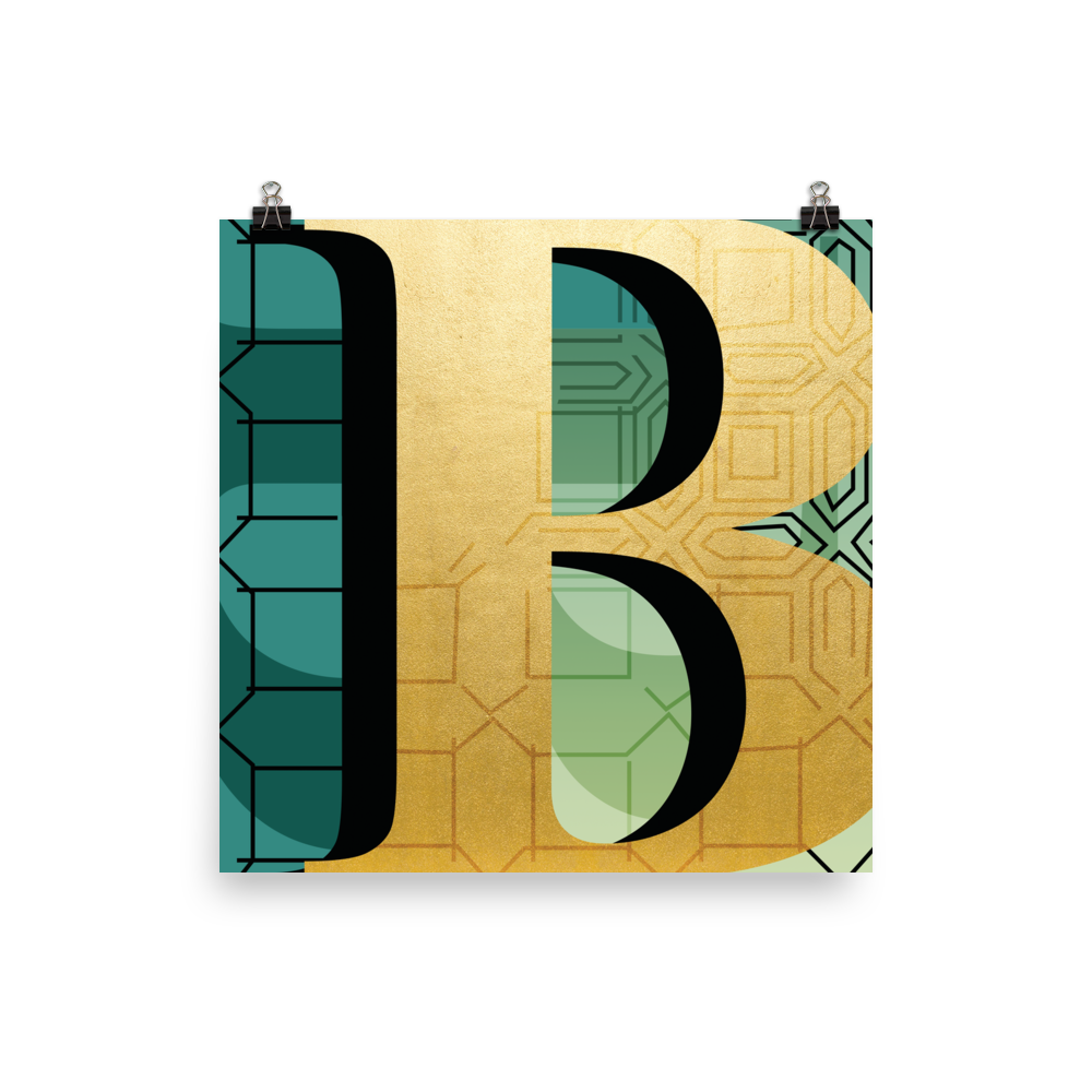 The Gilded Series | Letter B Poster