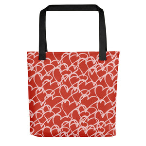 Hand Drawn Hearts Tote Bag