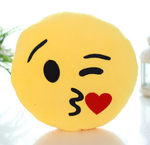 Blowing Kiss Emoji Cushion