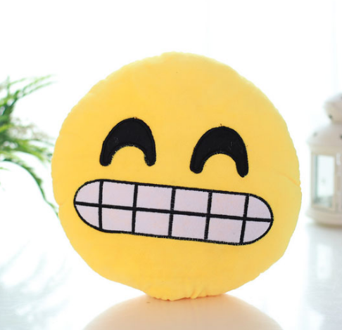 Grimacing Emoji Cushion