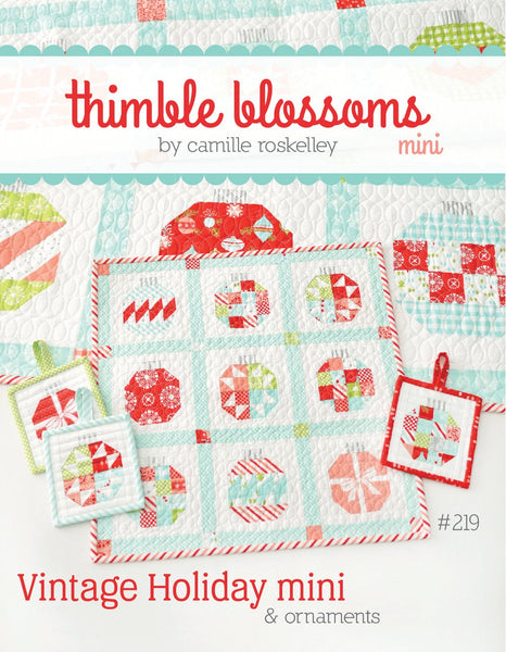 Vintage Holiday Mini Paper Quilt Pattern by Camille Roskelley of Thimbleblossoms