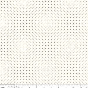 La Creme Swiss Dot in Grey by Riley Blake
