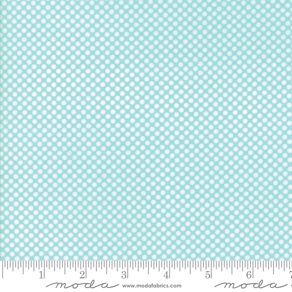 Vintage Holiday White dot on Aqua by Bonnie and Camille for Moda 55162 12