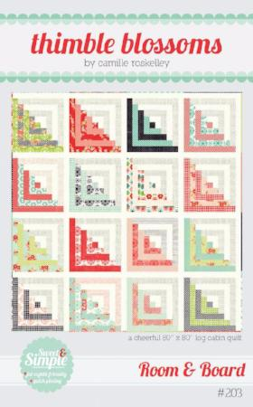 Room and Board Paper Quilt Pattern by Camille Roskelley of Thimbleblossoms
