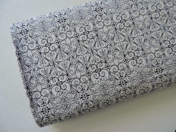 White/black Damask from Cityscapes by Judy Hansen for Paintbrush Studios