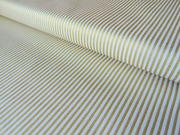 Sparkle Cotton Gold Stripes by Riley Blake