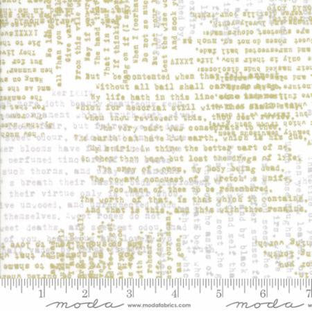 Modern Background Luster Metallic Shakespeare (with Gold) by Zen Chic for Moda Fabrics 1611 11M , Gold, Metallic