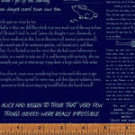 Read me in Midnight, from Curious Dream by Angela Pingel for Windham Fabrics, by the half yard