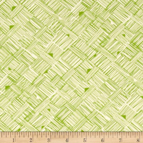 Star Landing Crosshatch in Green by Jeanean Morrison for Free Spirit by the HALF yard, PWJM106- Green