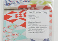 Red Letter Day Patern by Camille Roskelley of Thimbleblossoms