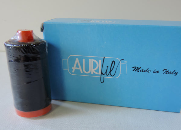 Aurifil Large Spool 50 wt Black Fine Cotton Thread