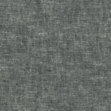 Essex Yarn Dyed Linen by Robert Kaufman: Black