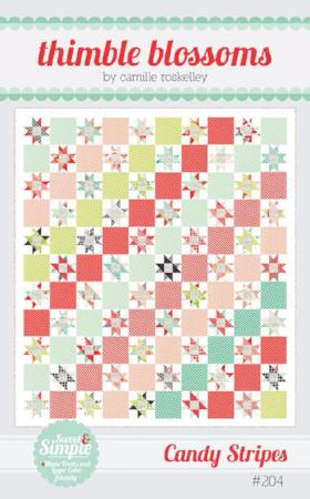 Candy Stripes Paper Quilt Pattern by Camille Roskelley of Thimbleblossoms