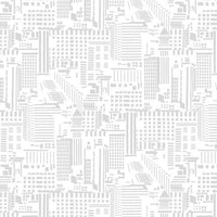 Rush Hour Skyline in White/Gray by Studio E by the HALF yard, 2771 9