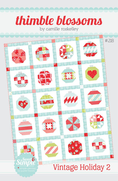 Vintage Holiday 2 Paper Quilt Pattern by Camille Roskelly of Thimbleblossoms