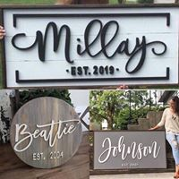 3D Name with Border Frame