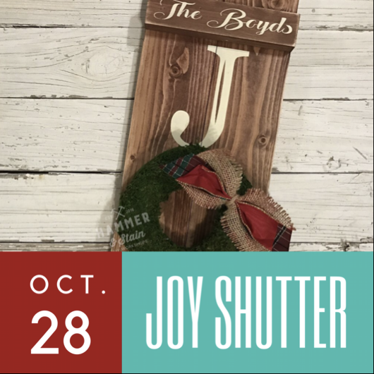 10/28/2017 (6:30pm) Joy Rustic Shutter Workshop (Ocala)