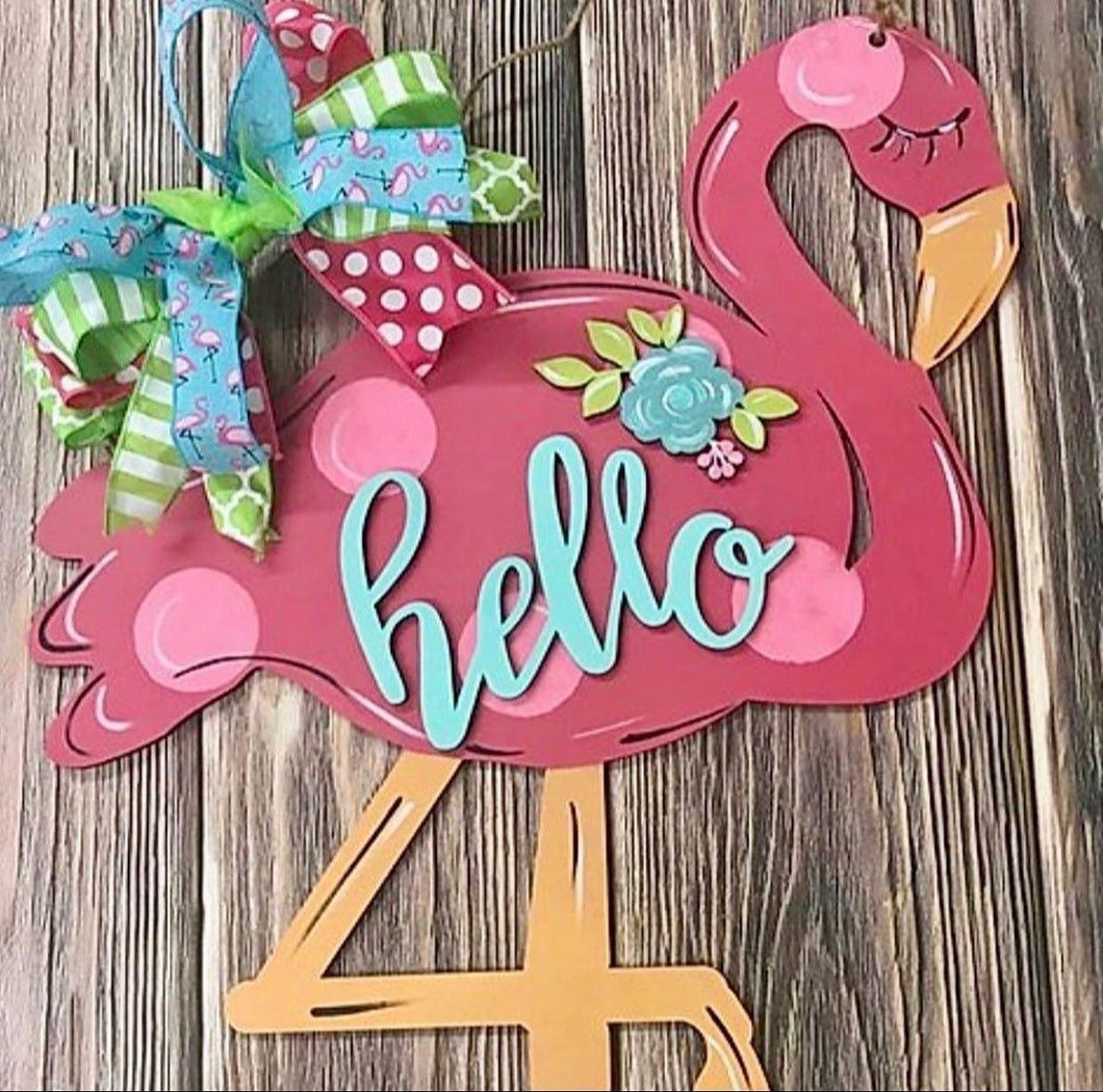 Flamingo Door Hanger Kit