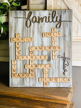 Scrabble Tile Sign