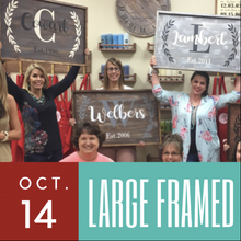 10/14/2017 (6pm) Large Framed Sign Workshop (Gainesville)