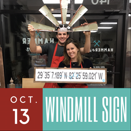 10/13/2017 (6pm) Windmill Coordinates Sign (Ocala)
