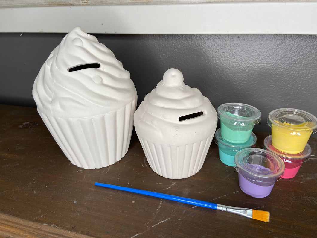 Ceramic Large Cupcake Bank