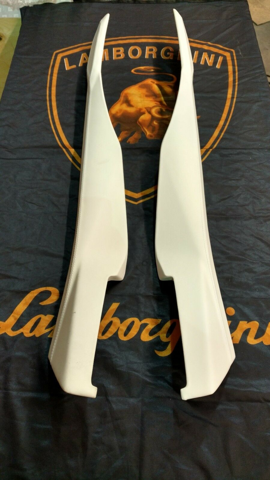 LAMBORGHINI AVENTADOR LP700 720 INTERIOR CENTER CONSOLE TRIM WHITE LEATHER OEM