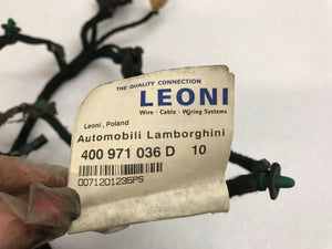 LAMBORGHINI GALLARDO LP560 570 RIGHT SIDE DOOR WIRING HARNESS OEM 400971036D
