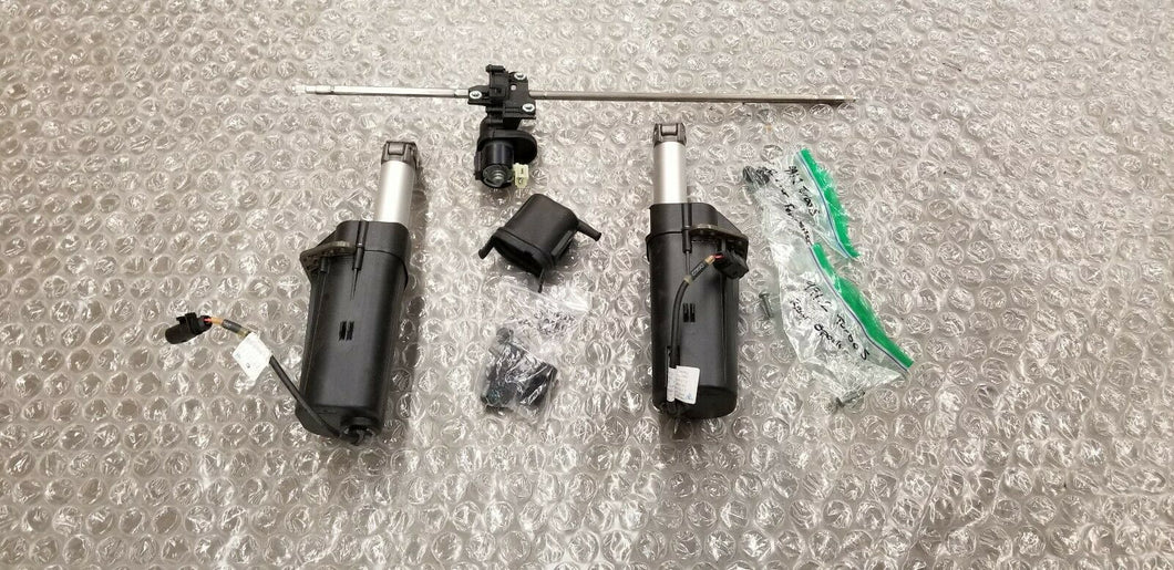 PORSCHE 991 TURBO S REAR WING SPOILER MOTOR DRIVE SET OEM 991504043