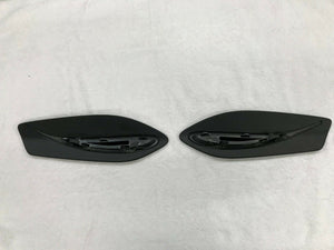PORSCHE 991 GT3 REAR WING DRIVER PASSENGER SIDE LH RH END PLATE COVERS SET OEM