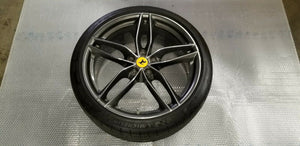 FERRARI 488 GTB SPIDER FRONT RIM DIAMOND FACTORY WHEEL WITH TIRE OEM 315895