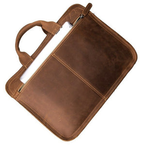 Handcrafted Antique Style Top Grain Leather Messenger Bag 6020