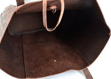Handcrafted Vintage Crazy Horse Leather Tote Bag YD006