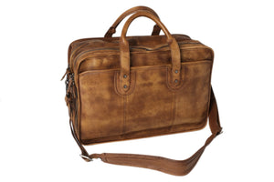 Handmade Vintage Full Grain Leather Mens Business Handbag NZ01