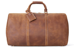 Handmade Extra Large Vintage Full Grain Leather Travel Bag, Duffle Bag 12027