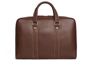 Handcrafted Full Grain Genuine Leather Men Business Briefcase