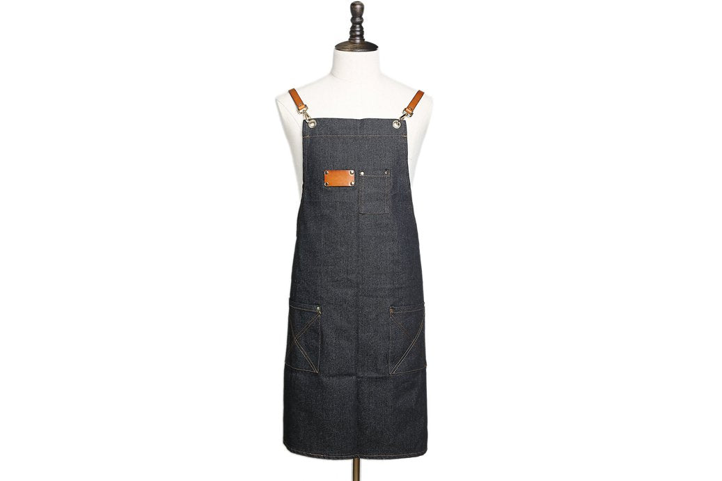 Waxed Canvas and Leather Apron  WQ01