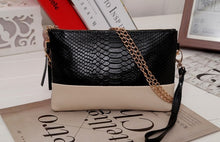 Genuine Leather Clutch with Chain