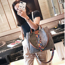Otherchic Suede Leather Tote Bag