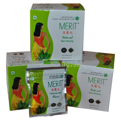 Jamu Merit Herbal Body Slimming Dietary Pills Natural Food Suplement