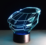 3D LED Changing Sports Car Light