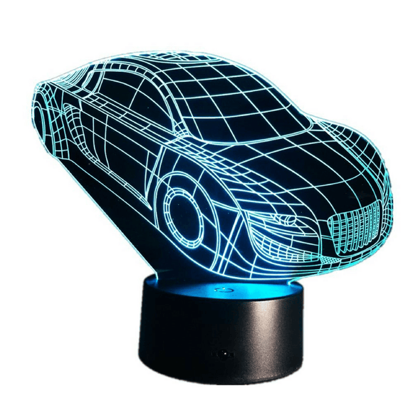 3D Car Touch Light