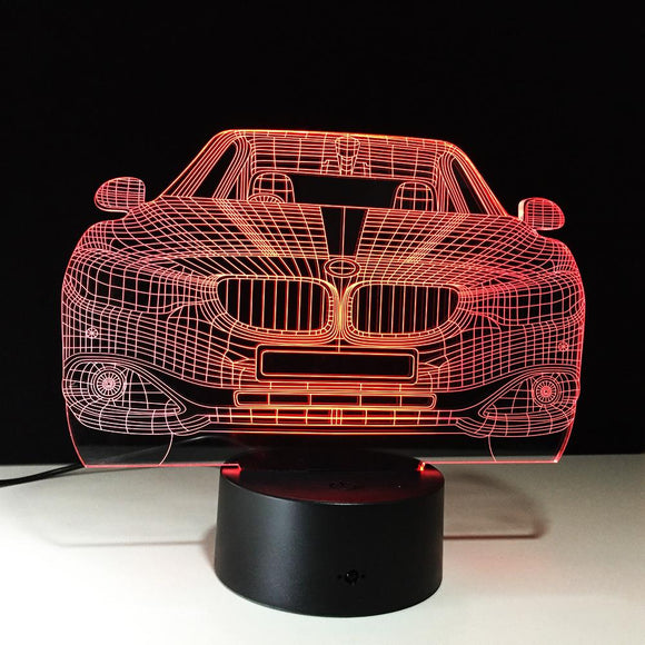 3D Car 7 Colour Changing LED Night Light