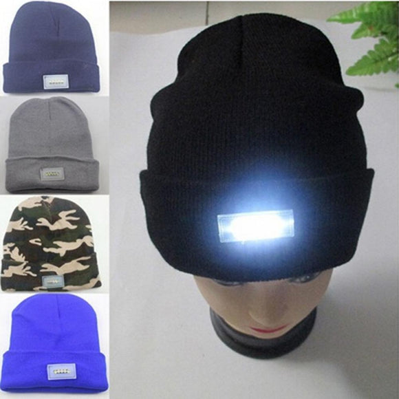 Unisex LED Lighted Cap Beanie